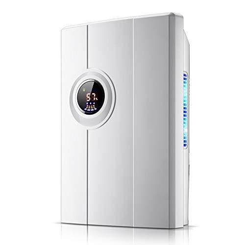 FxsD Deshumidificador Inteligente deshumidificación, purificación fotocatalítica, Baja Temperatura de descongelación y Detener por Completo de Agua (Color : White)
