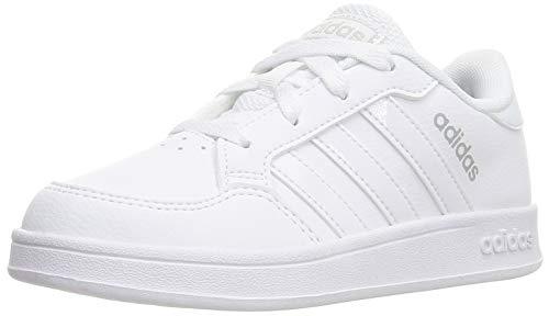 adidas BREAKNET K Tennis Shoe, FTWR White FTWR White, 5.5 UK