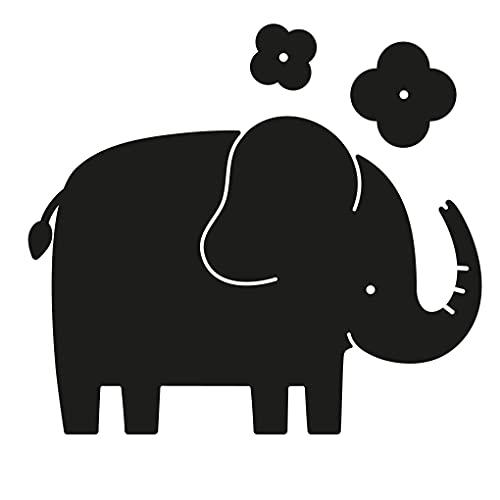 APLI Kids 17787-Pizarra Adhesiva con Forma-Elefante-Medida 60 x 100 mm-Pizarra Infantil, Color Negro (17787)