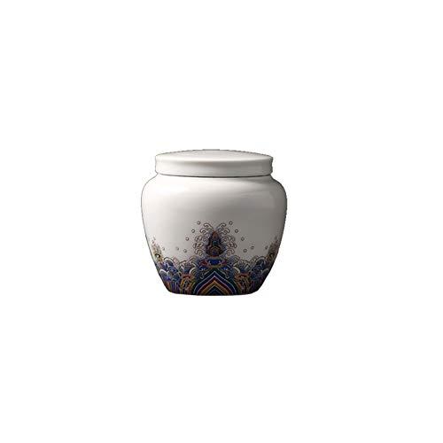Maya Star Mini urnas de cerámica para cenizas para mostrar entierro en casa u oficina (se adapta a una pequeña cantidad de restos cremados) -A17