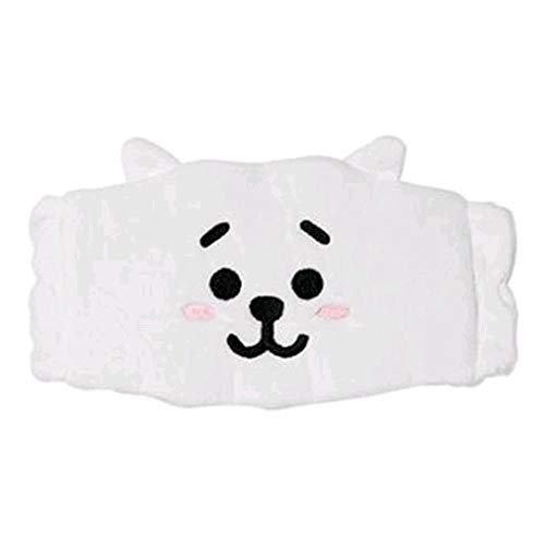 Kpop BTS Cleansing Band Bangtan Boys Cute Cartoon Hair Band Wash Makeup Cleansing Headband Headgear Scarf (RJ)