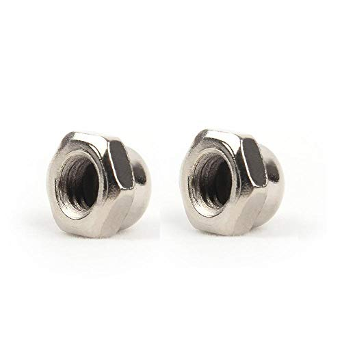 10 unids tuercas de cúpula níquel/zinc chapado en zinc acero al carbono tuerca hexagonal M3 M4 M5 M6 M8 para pernos Tornillo de pernos YUAN CHUANG (Color : Nickel Plated, Size : M4)