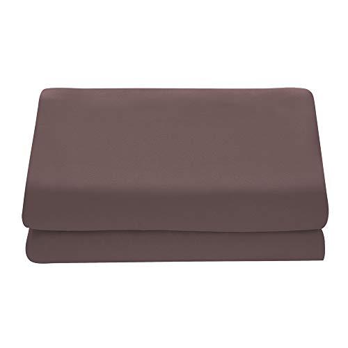Comfy Basics 1-Piece Ultra Soft Flat Sheet - Elegant, Breathable, Brown, Twin Size