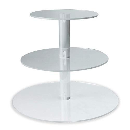 Acryl Cupcake Ständer | Tortenständer | Nachmittagstee Stand | Abgestufte Anzeigeeinheit | Kuchen Display | Partygeschirr | Pukkr