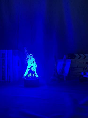 3D lámpara de noche regalo para los aficionados dormitorio decoración luz 3D luz Freddie Mercury figura led noche luz táctil sensor bebé niños luz de la noche decoración de oficina luz 3D regalo erjie