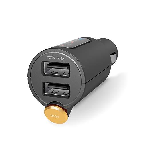 エレコム FM トランスミッター 高音質 重低音 Bluetooth USB×2ポート 2.4A おまかせ充電 1年間保証 ブラック LAT-FMBTB03BK