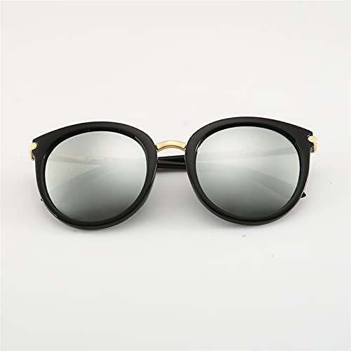 WWWL Gafas de Sol Moda Gafas de Sol Mujer Vintage Metal Espejo Vintage Clásico Versión Coreana Anti Ultravioleta Reflexivo (Lenses Color : Silvery)