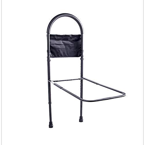Haltegriff Sicherheitsbett Haltegriff höhenverstellbar mit praktischer Aufbewahrungstasche, Haushaltsbett, Liegesofa oder Holzbettgestell, Senioren, Behinderte (Farbe: Schwarz)