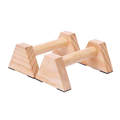 Push Up Stands Pine Wood Set van 2-delige mooie gladde Non-Slip Push-up Stand Handle Yoga & Gymnastic Training Gereedschapaccessoires Push Up Bars met Non-Slip