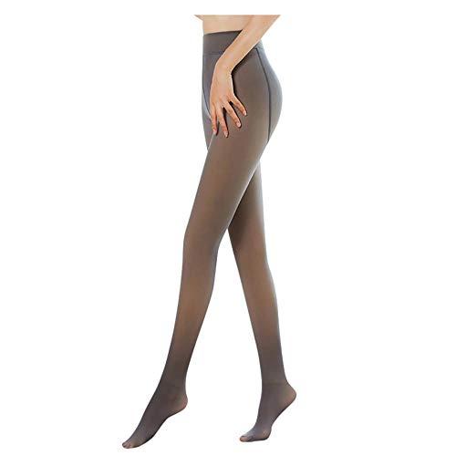 ZYIKX Medias térmicas de Invierno para Mujer, piernas impecables, Medias translúcidas de Invierno, Pantimedias cálidas de Lana MediumThick Brown
