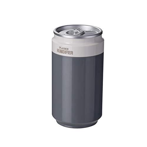 Humidificador para latas de coche, equipado con sonda de detección impermeable, función de apagado automático, luz de llama, Nano Spray, adecuado para el hogar, la escuela, la oficina (color: gris)