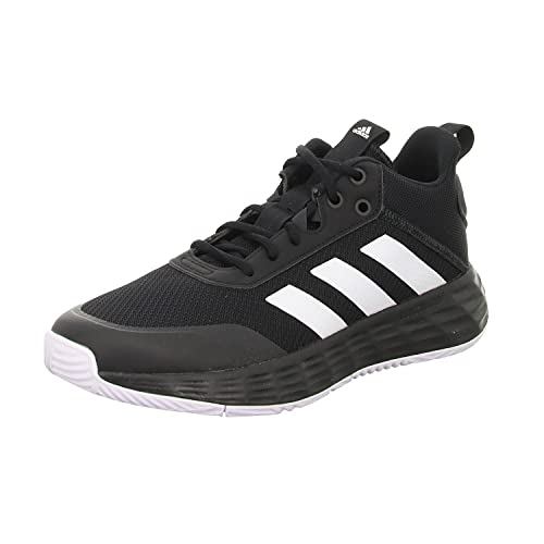 adidas OwnTheGame 2.0, Basketball Shoe Hombre, Core Black/Cloud White/Carbon, 43 1/3 EU