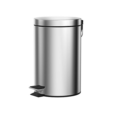 Trash can Poubelle Peut pédale en Acier Inoxydable Poubelle Cuisine Domestique Flip Poubelle 5L20.5 * 28cm