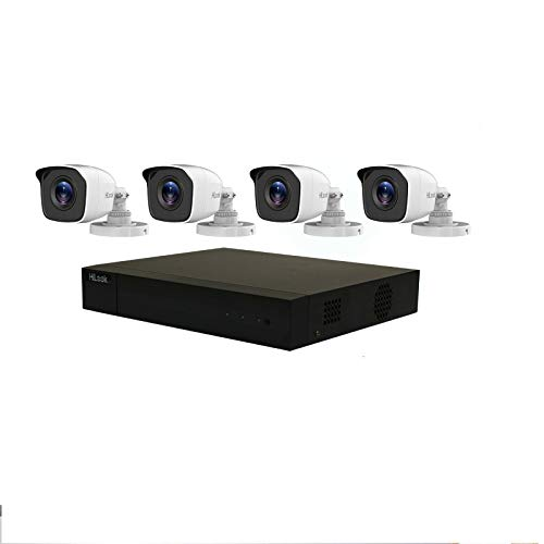 Kit de sistema de CCTV HILOOK de 4 MP, incluye 1 TB de disco duro con cable, cámaras de bala blancas