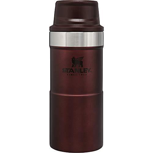 Stanley Classic Trigger Action Travel Mug Doppelwandiger, vakuumisolierter Becher für Kaffee, Tee & Wasser, | Hält Getränk heiß oder kalt |Einhändig bedienbar |BPA-frei, Wine, 0.35 L