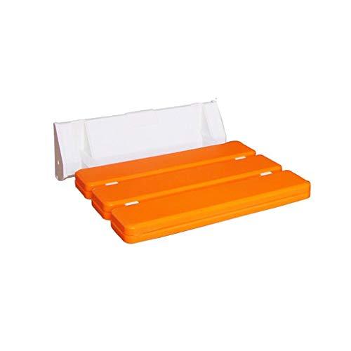MissZZ Taburete de Hoja abatible montado en la Pared, Silla Plegable para Asiento de Ducha, Asiento de baño Plegable (Color: F)