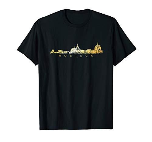 Rostocker Skyline (Vintage Goldgelb) Rostock T-Shirt