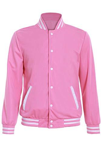 icewalker Steven Universe Pink Cosplay Kostüm Sweatshirt Uniform Pullover Baseballuniform Baseball Trikot Karneval Cosplay Kostüm Jacke Mantel Rosa M
