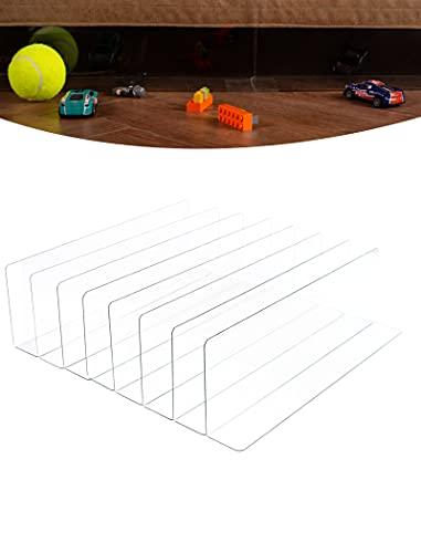 Toy Blocker for Furniture, Under Bed Blocker for Pets/ Kids, PVC Gap Barrier Under Couch Blocker for Bed/ Cabinet, Applied for Carpet & Hard floor, For Gaps Under 4.5'', 8 Packs, Total Length 10 feet