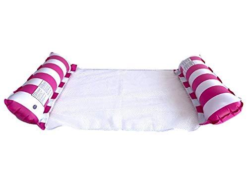 HSY SHOP 2 Piezas Hamaca de Agua reclinable colchón de natación Flotante Inflable Anillo de natación de mar Piscina Fiesta Juguete Cama de salón para Piscina Playa (Color : Pink)