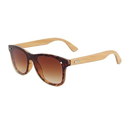 Gafas de sol de madera de bambú, unisex, polarizadas, estilo vintage, UV400, 317-7