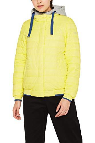 edc by ESPRIT Damen 129CC1G010 Jacke, Gelb (Lime Yellow 760), X-Large (Herstellergröße:XL)