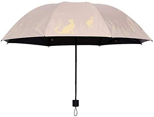 ZJJJD Paraguas De Doble Propósito Plegable Pequeño Paraguas Fresco Protector Solar Paraguas...