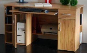 Schreibtisch Computertisch PC-Tisch Kernbuche Bürotisch - (421)