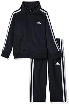 adidas Boys  Little Tricot Jacket & Pant Clothing Set Adi Black 7