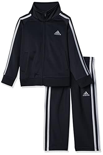 adidas Boys' Little Tricot Jacket & Pant Clothing Set, Adi Black, 5