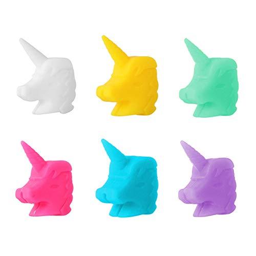 Grneric Segnabicchieri in Silicone per Feste, 12 Pezzi Segnabicchieri Silicone Marcatore per Bicchieri a Forma di Unicorno, per Bar Feste Tutte Le Occasioni, 6 Colori