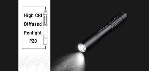 klarus P20 High CRI LED Penlight, NICHIA 219C, 230 Lumens, Black,