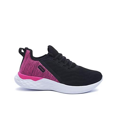 ATHIX Allure Flexy - Zapatillas de Correr para Mujer, Negro (Negro/Rosa Citric), 38 EU - Zapatillas Deportivas, cómodas y Transpirables