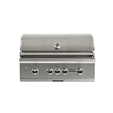 Coyote C2SL36NG S Series 3 Burner 875 Square Inch Built In Natural Gas Grill