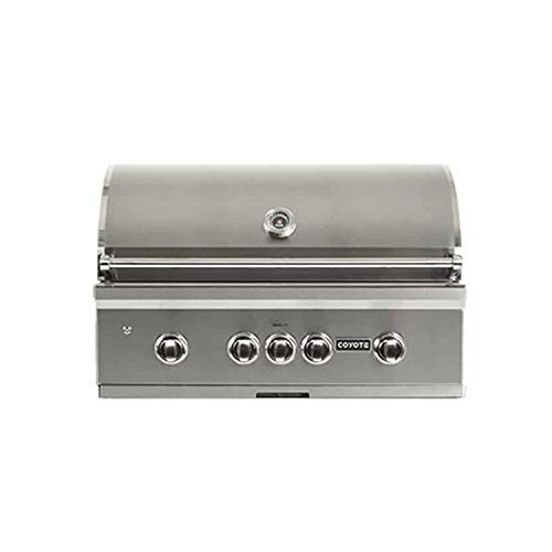 Coyote C2SL36NG 36 Inch S Series 3 Burner 875 Square Inch Built in Natural Gas Grill with Infrared Burner and Rapidsear Technology, Silver