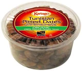 Organic Pitted Dates - All Natural, Fat Free, Organic Deglet Noor Pitted Tunisian Dates, from Kartago - 28 Ounce