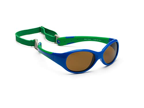 KOOLSUN KS-FLRS000 Flex Baby Sonnenbrille, Royal, Blue Fir, 0-3 Jahre