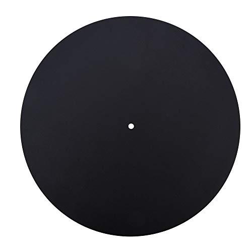 Antistatisches Plattenspieler-Rekordpad Verhindern Sie Kratzer auf Schallplatten Ersatz Leder Retro Vintage Vinyl Record Mauspad Flache weiche Leder Matte Slipmat Pad(1,5 MM)