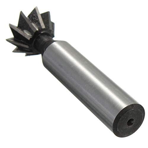 SHM-MM Drill 60 Grad HSS Schwalbenschwanz Fräser gerader Schaft Holzbe- Fräser 20mm Bohrer Zubehör
