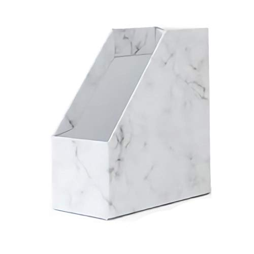 Schreibtisch-Aufbewahrungsbox, modern, schlichter Stil, Marmor-Muster, Organizer, multifunktional, Kartonregal, Trennwand für Schule, Büro, Zuhause, Schreibwaren B
