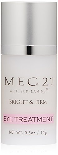 MEG 21 Bright and Firm Eye Treatment, Reverses Fine Lines, Puffiness, Wrinkles around and under Eyes. Firms, Moisturizes. Non-irritating, safe even for Contact Lens Wearers. Clinically Tested, 0.5 oz.