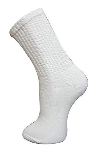 New Mens 12 Pairs Cotton Plain White Sport Socks UK 6-11 EUR 39-45