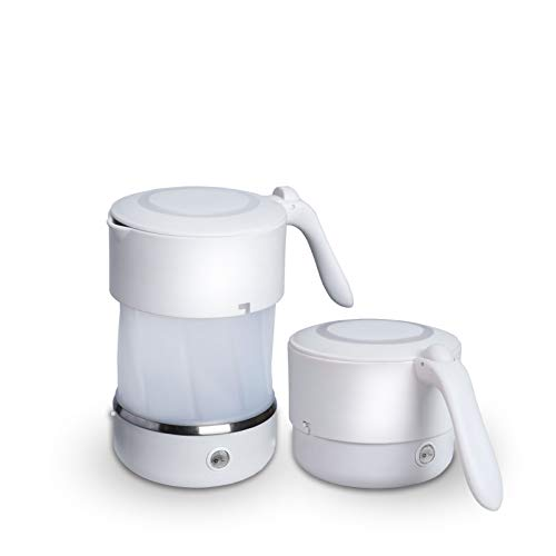 Electric Collapsible Travel Kettle - Foldable & Portable - Fast Boil - Water Boiler For Coffee, Tea & More - Food Grade Silicone - Boil Dry Protection