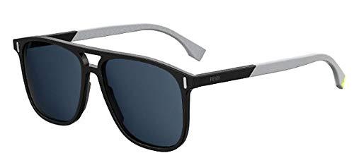 FENDI sonnenbrille FF M0056/S 807/KU Schwarz blau größe 56 mm Mann