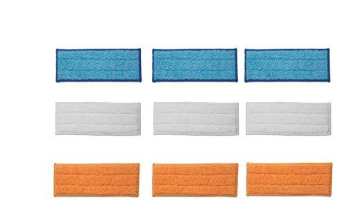 Supremery 9X Waschbare Wisch-Pads für iRobot Braava Jet 250 240 241 Wischtücher Tücher