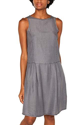 ESPRIT Damen 079Ee1E013 Kleid, Grau (Grey Medium Wash 922), (Herstellergröße: M)