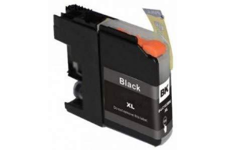 PCMOVILES Cartucho De Tinta Compatible Negro para Brother LC121XL LC123XL LC121BK LC123BK V3