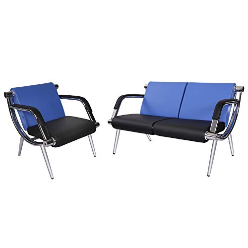 PU Leather Airport Seating Bench Office Waiting Room Chairs with Arms Salon Waiting Furniture
