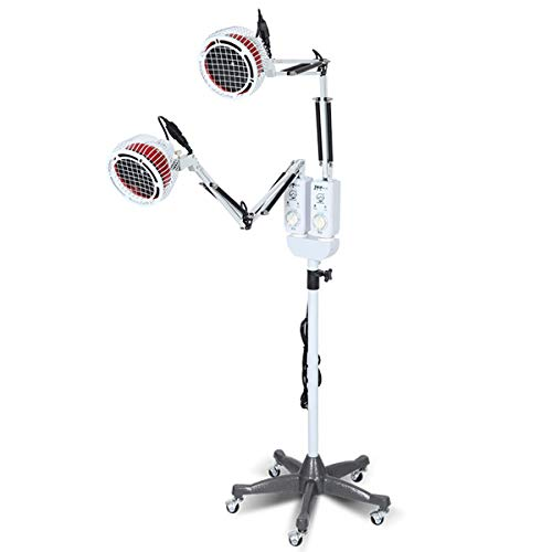 Buy YLTTZ Double Head Infrared Heating Floor Lamp, 250W Mineral Therapy Individual Control Panel Imp...