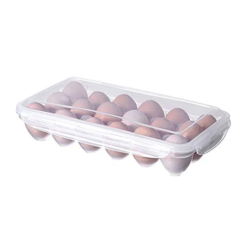 Stoccaggio alimentare sfuso 10/18 griglie Scatola di immagazzinaggio di uova trasparente trasparente con coperchio uova conservazione contenitore cucina frigorifero frigo uovo organizer Cucina, casa